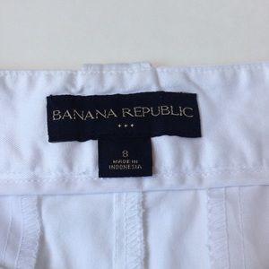 Banana Republic Shorts - Banana Republic Coin Roll Cuffed White Shorts